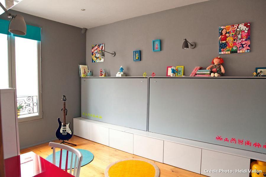 r organiser une chambre d 39 enfants pinterest lits jumeaux gain de place et jumeaux. Black Bedroom Furniture Sets. Home Design Ideas