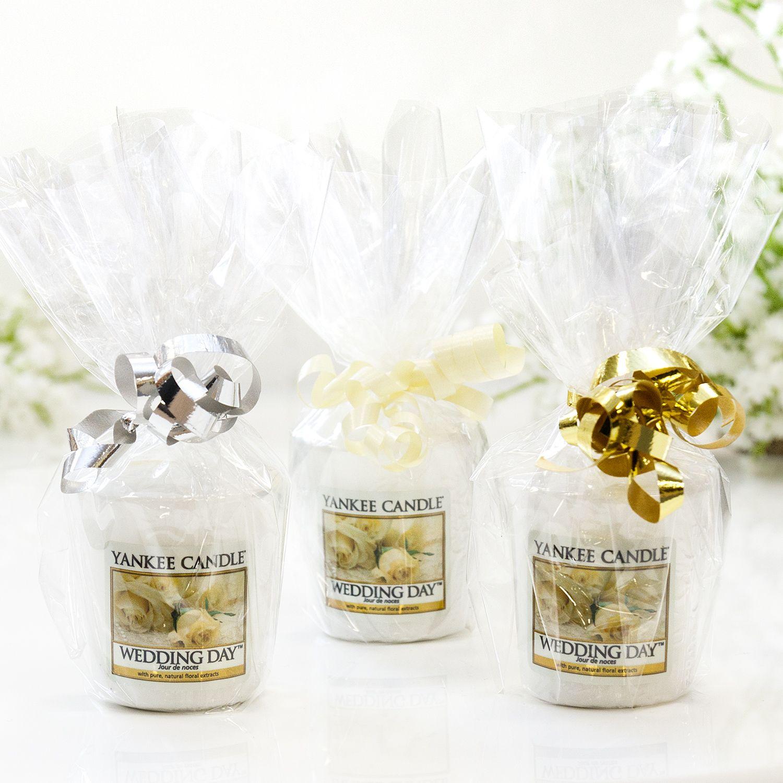 Yankee Candle Cellophane Wrapped Wedding Day Votive Temptationgifts Yankee Candle Wedding Favors Elegant Wedding Favors Wedding Gifts For Guests