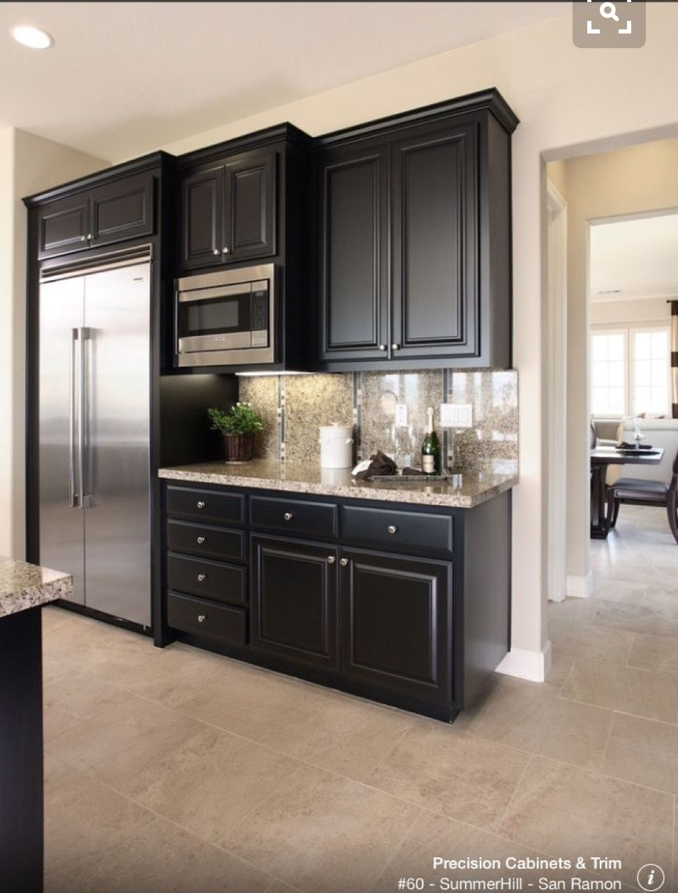 Upper cabinets step back in depth black kitchen cabinets kitchen redo kitchen black