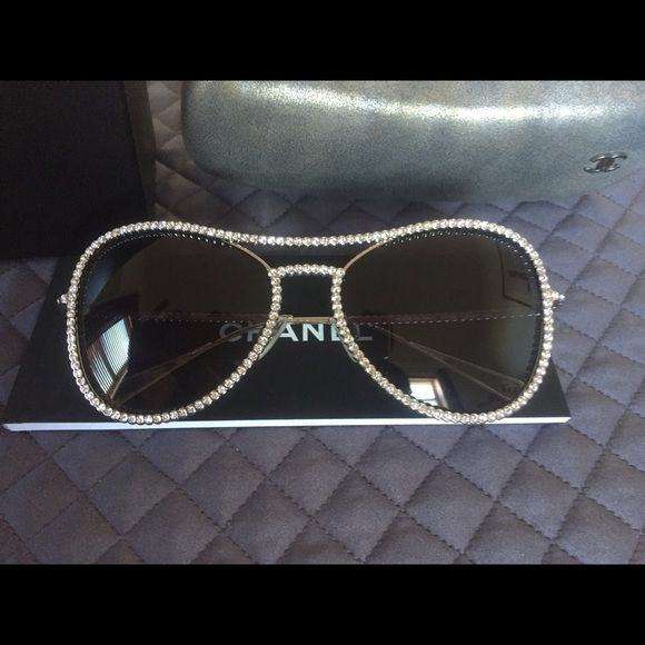 2dae5029f16a CHANEL Other - New Chanel sunglasses all around crystals