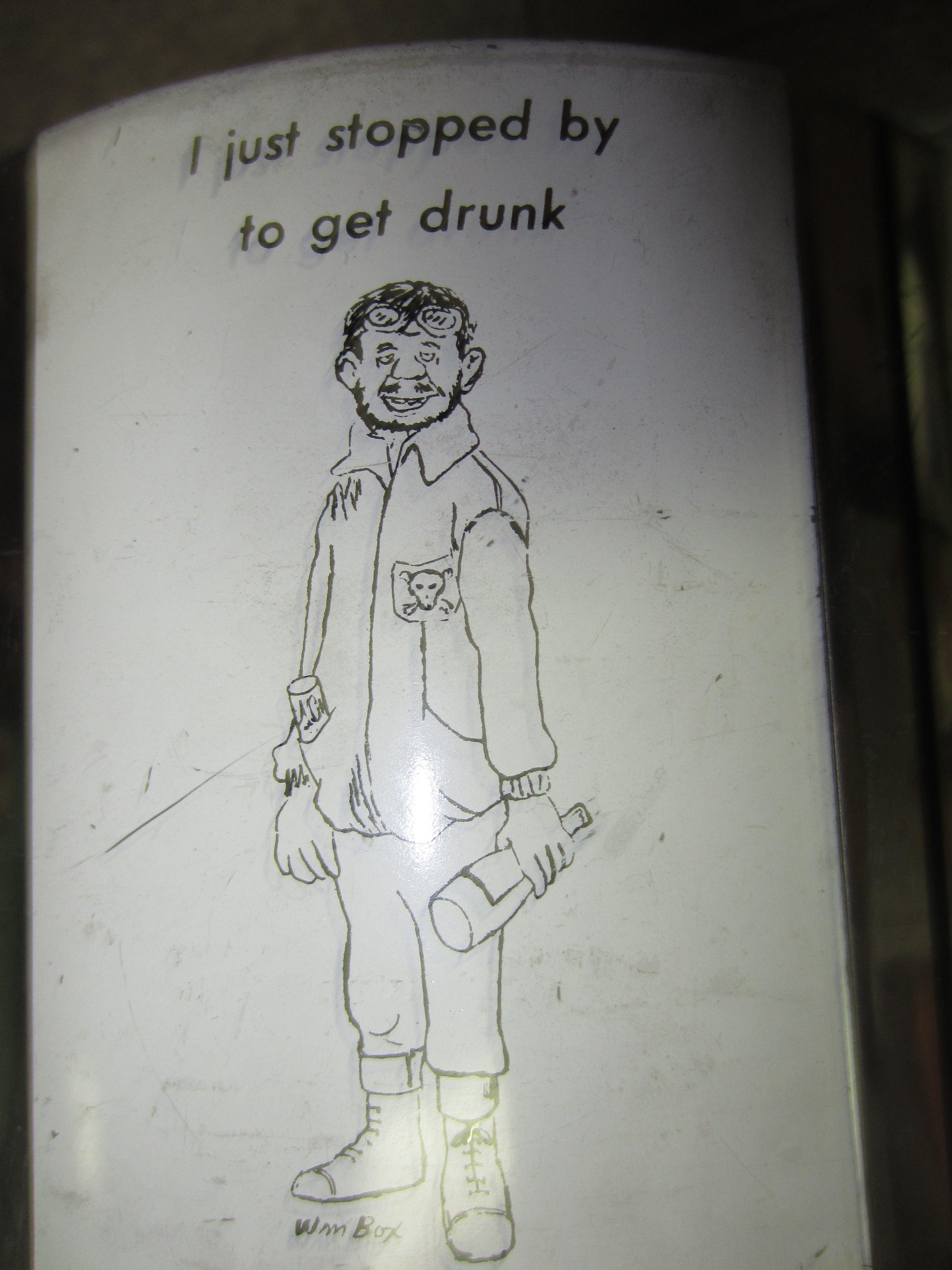 Vintage Fabcraft Ice Bucket Wm Box Cartoons Barware Humor 1950 #kookykitsch.com