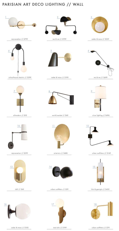 "Photo of The ""Parisian Art Deco"" Style: Lighting + A Roundup – Emily Henderson"