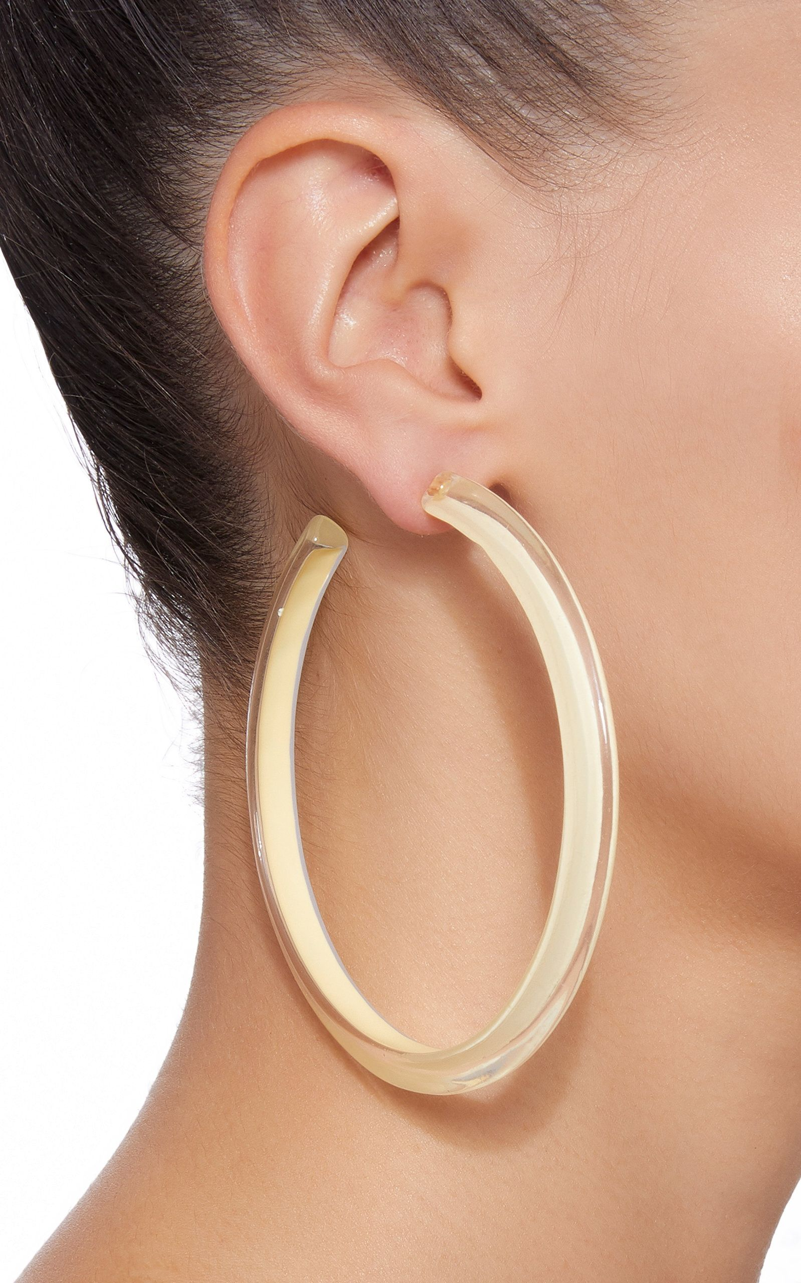 7b84150f32563 Alison Lou Large Jelly Lucite Hoop Earrings   Products in 2019 ...