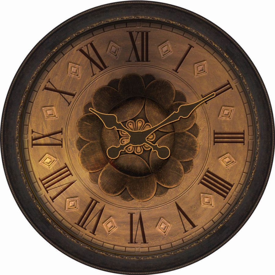 30 In Huge Bronze Classic Round Wall Clock Large Clocks Modern Art Living Room Allen Roth Large Wall Clock Bronze Clock Wall Clock