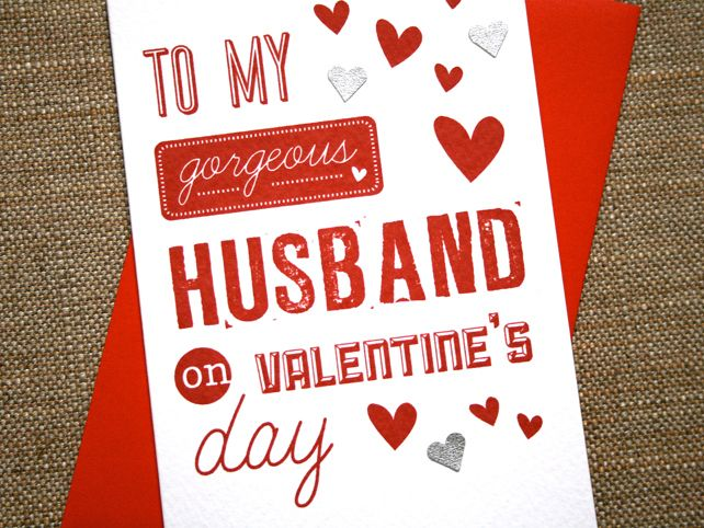 Valentines Card  Gorgeous Husband  Cards  Pinterest
