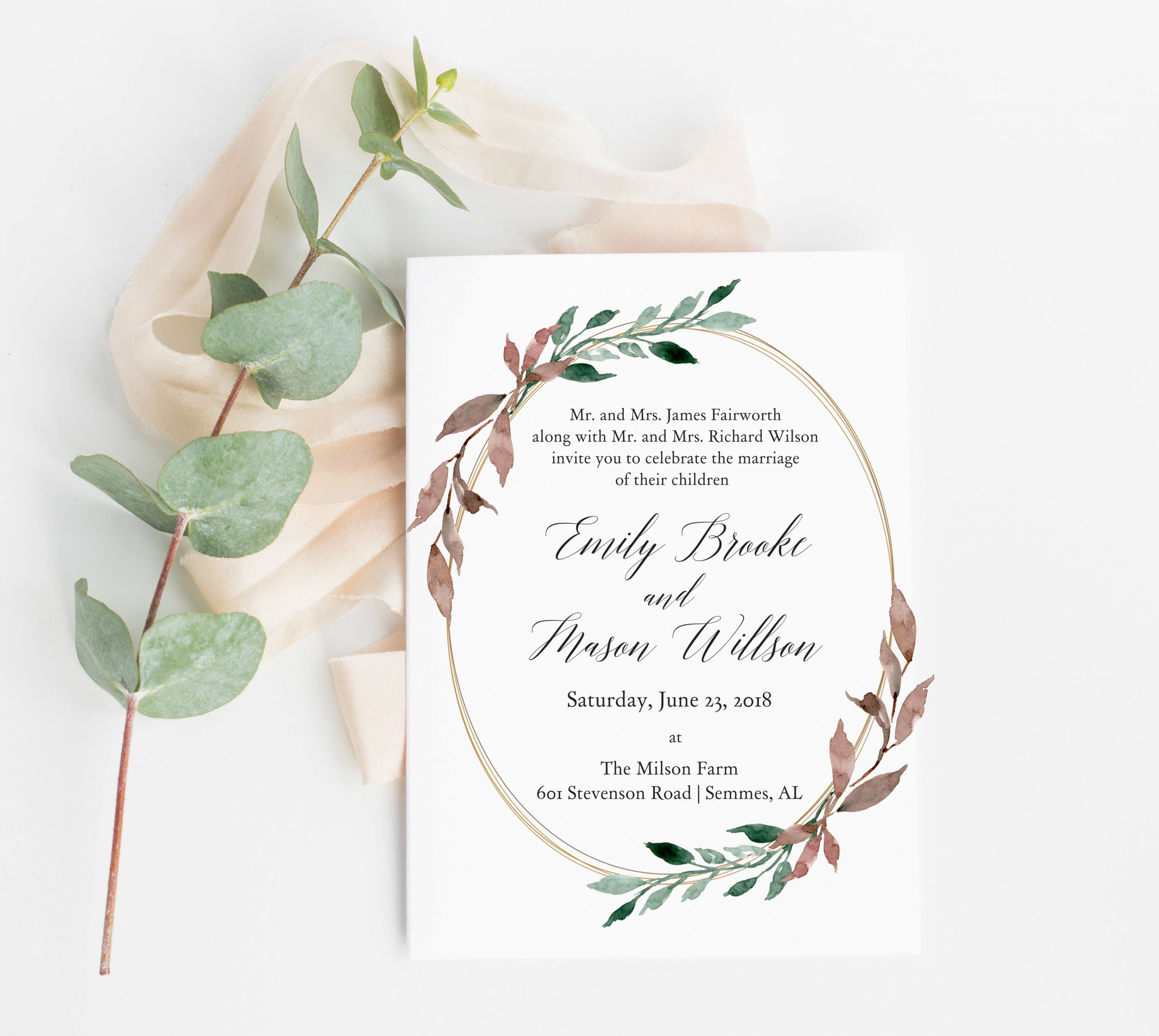 Charo wedding invitations