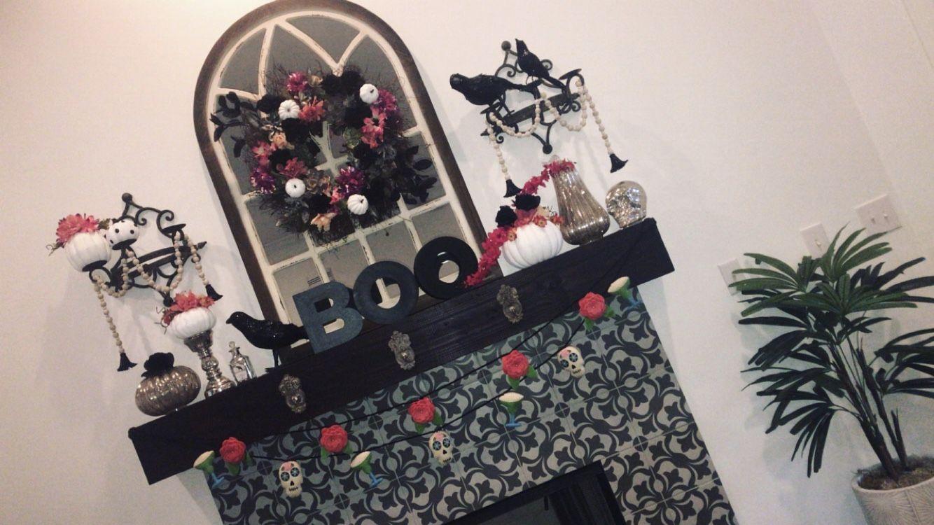 Halloween and Día De Los Muertos mantel by MaKenna McBroom