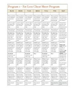 Simplified Meal Plan  G
