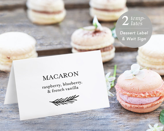 Printable Dessert Buffet Label Template, Dessert Stations, Dessert ...