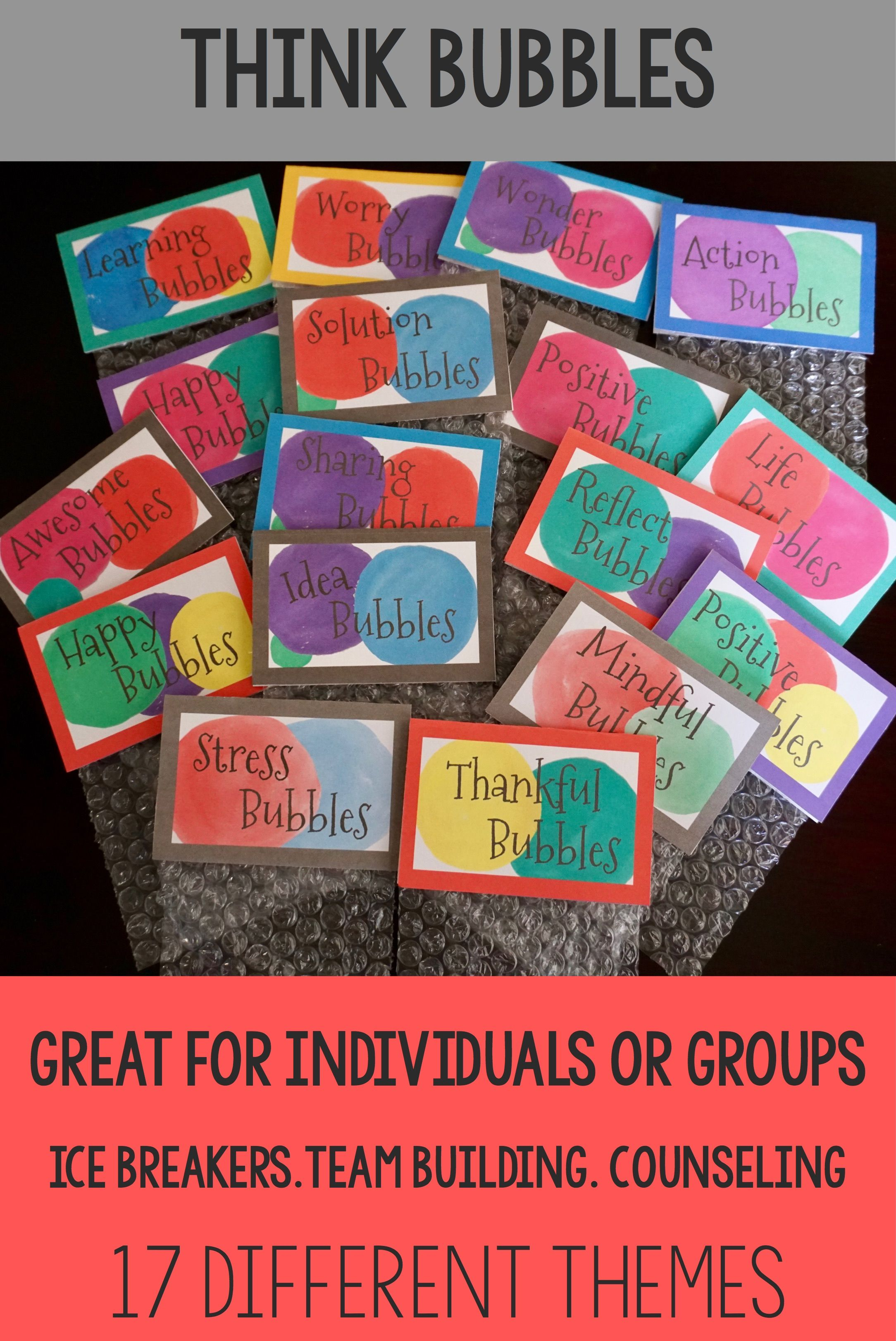 Think Bubbles Counseling Small Group Activity Bundle