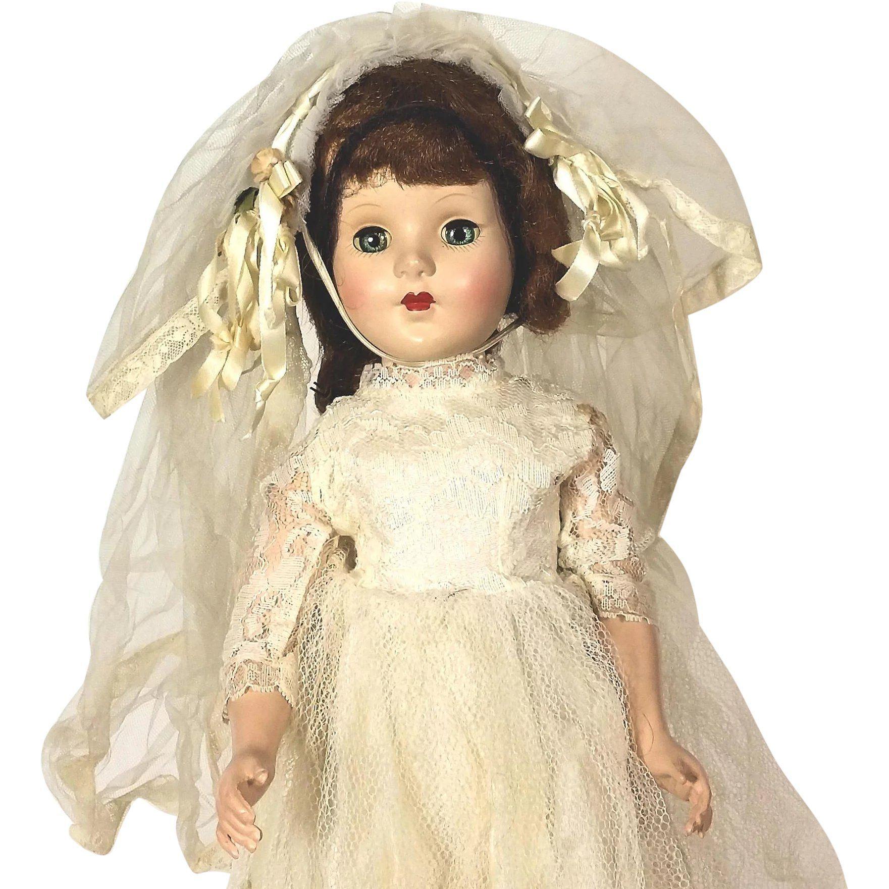 American Character Sweet Sue Walker Bride Doll #bridedolls American Character Sweet Sue Walker Bride Doll -- found at www.rubylane.com #thedollworldshome #vintagebeginshere #bride #doll #giftsforher #valentinesday #bridedolls