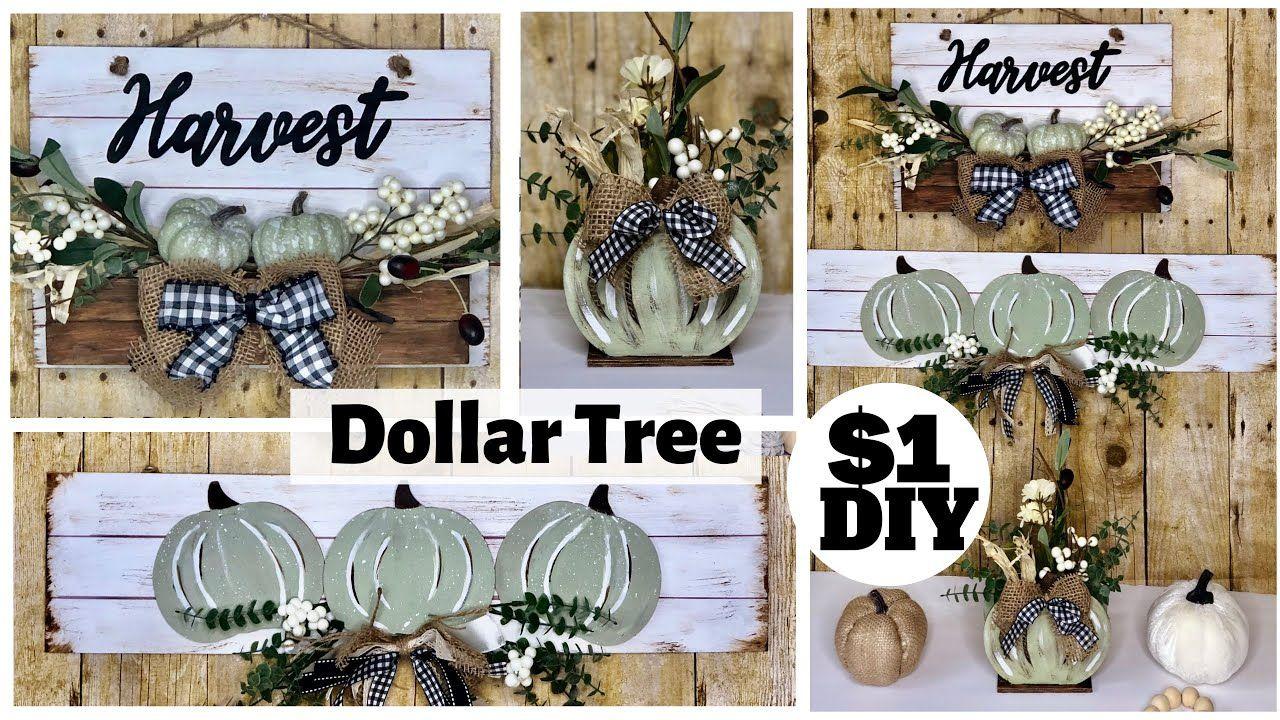 Dollar Tree DIYs Neutral Fall Farmhouse HighEnd Home