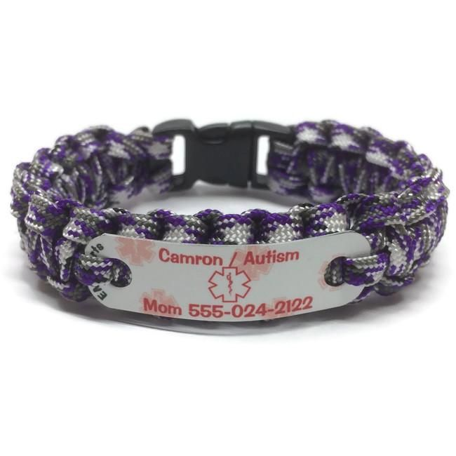 Autism Medical Alert Bracelet W Phone