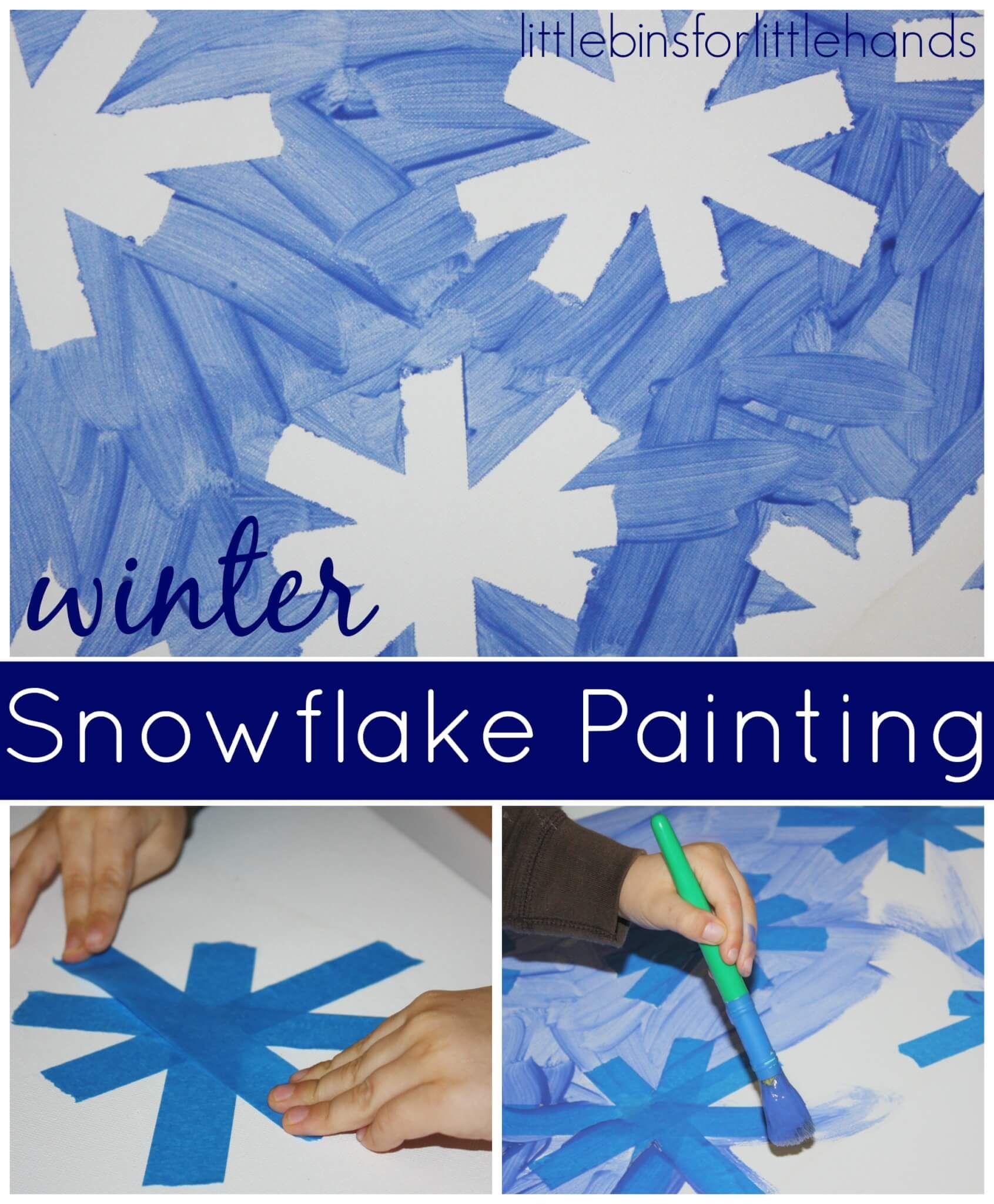 Snowflake Art For Preschool