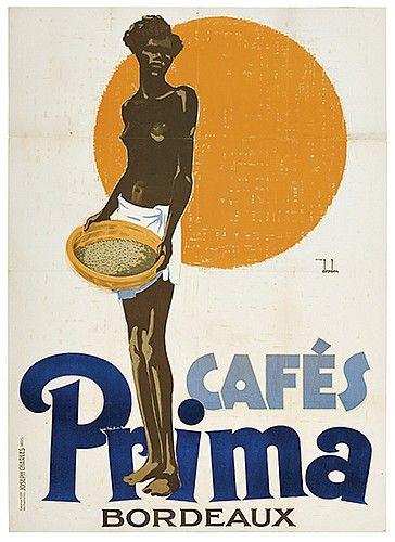 ERNST DRYDEN (1887-1938) PRIMA CAFÉS. 1928