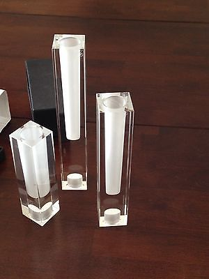 Oleg Cassini Crystal Candlesticks China Crystal Silver