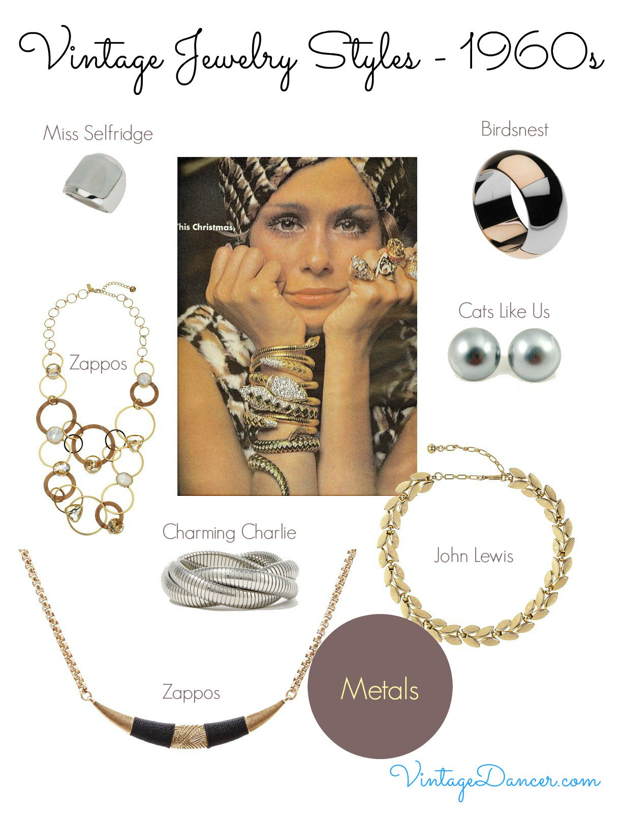 1960s Jewelry Styles And Trends To Wear 1960s Jewelry Jewelry Style Guide Vintage Fashion 1960s