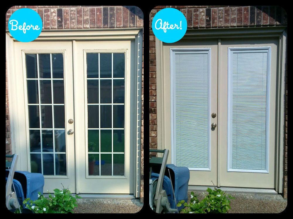 Add Privacy To Your French Patio Doors French Doors Patio Patio Doors French Door Curtains