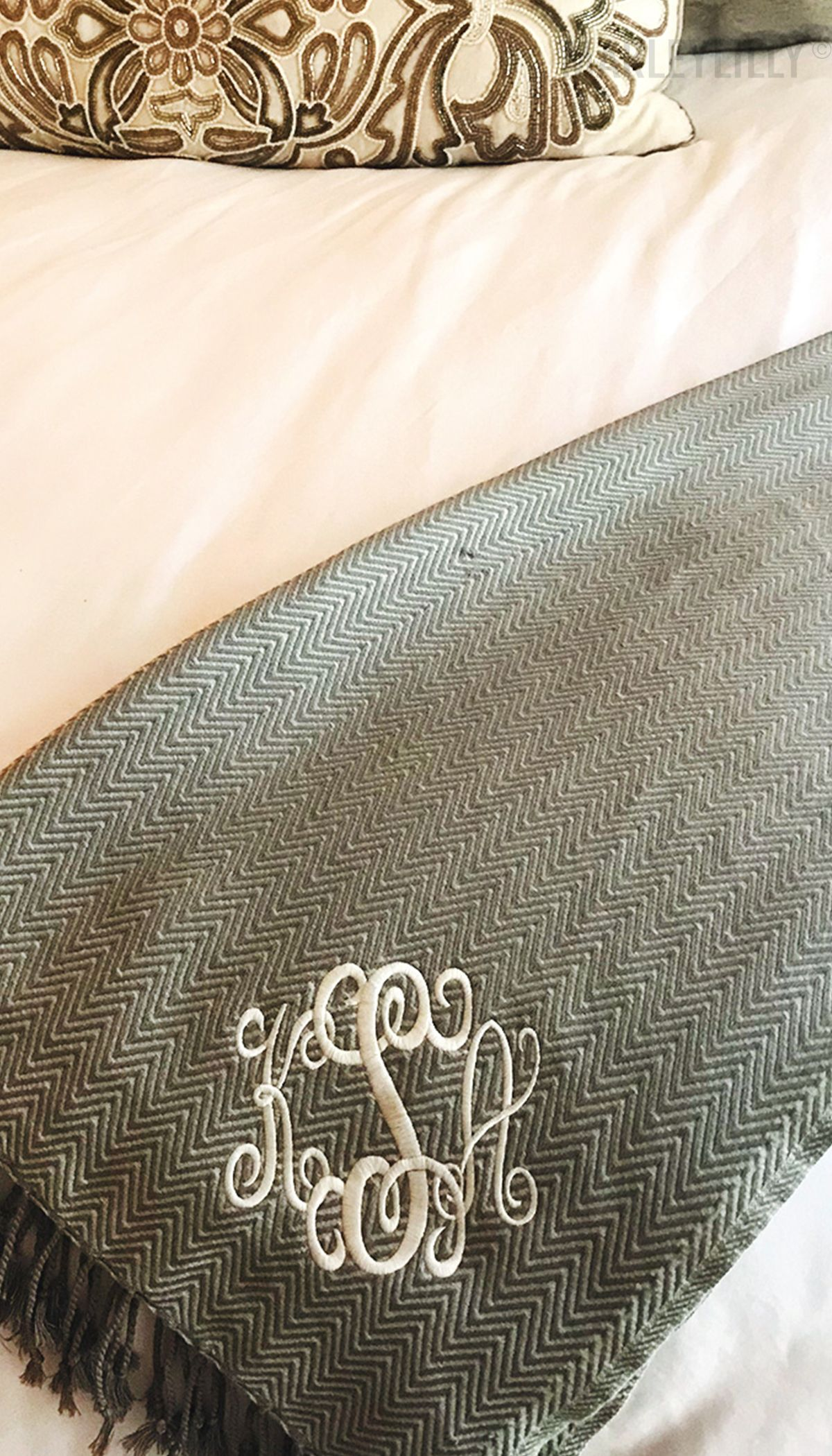 every house needs a cute monogrammed throw blanket especially if it