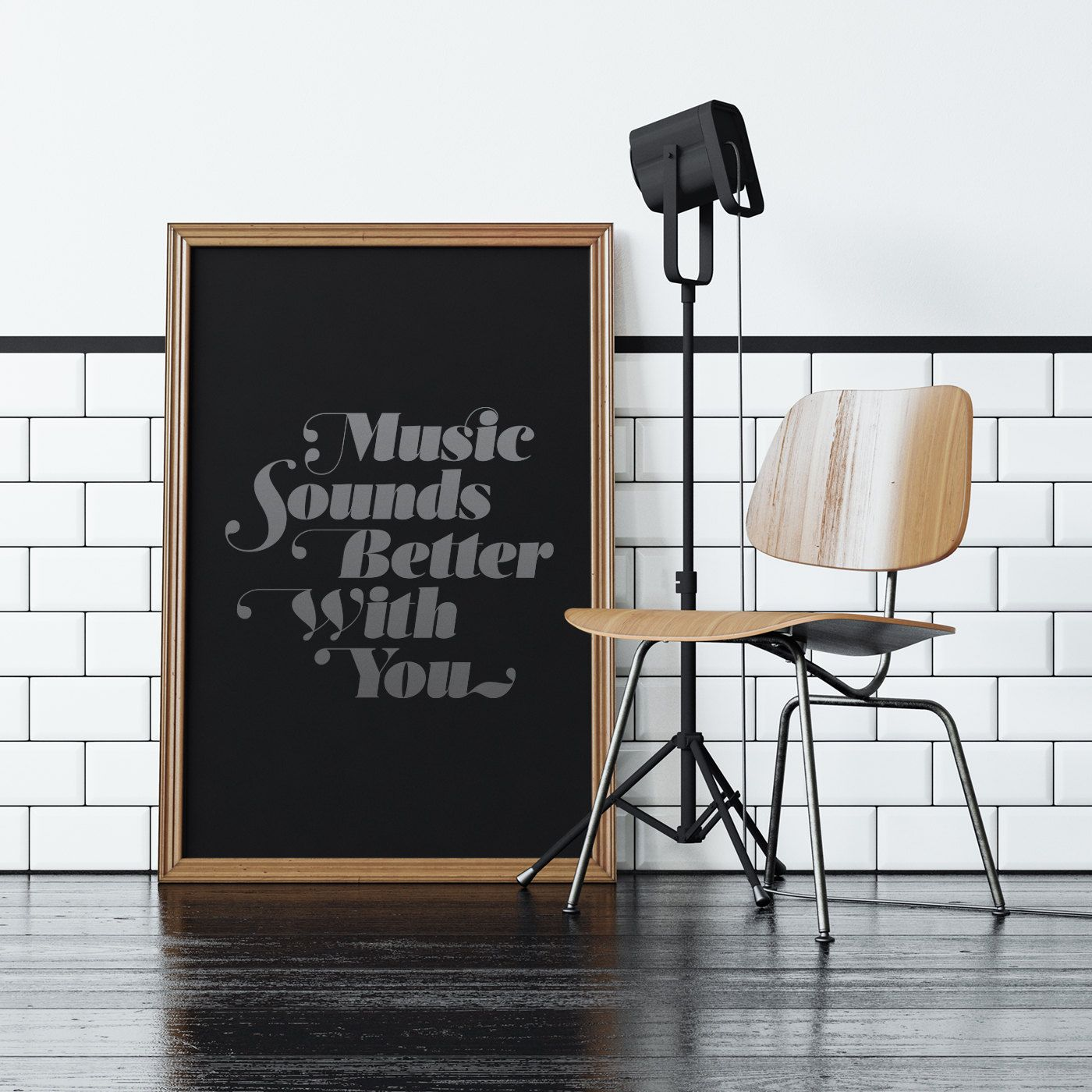 Music sounds better with you limited edition screen print