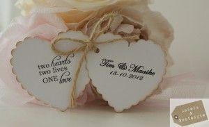 Bruidslabel, leuk als bedankje voor jouw bruiloft