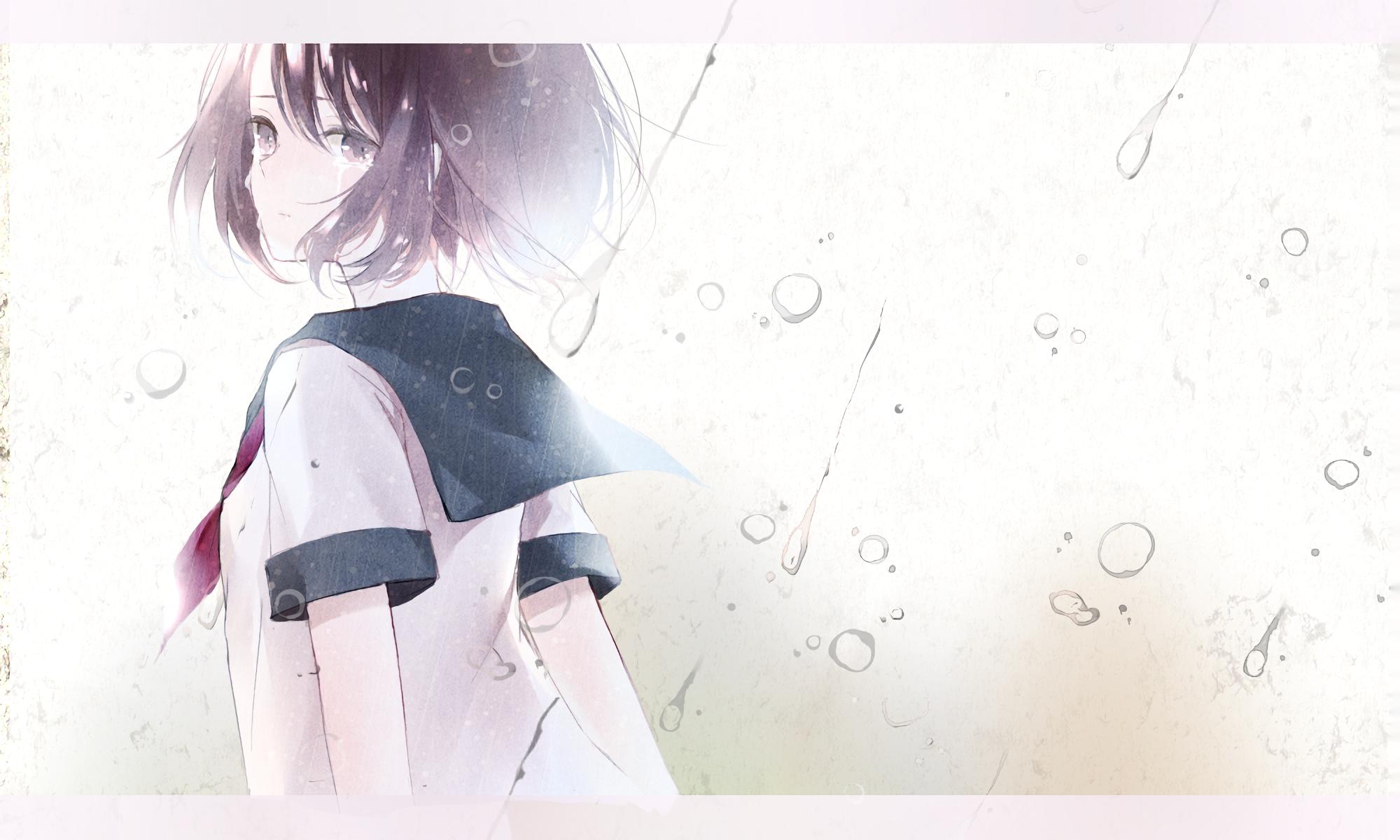Anime Original Girl Short Hair Black Hair Black Eyes