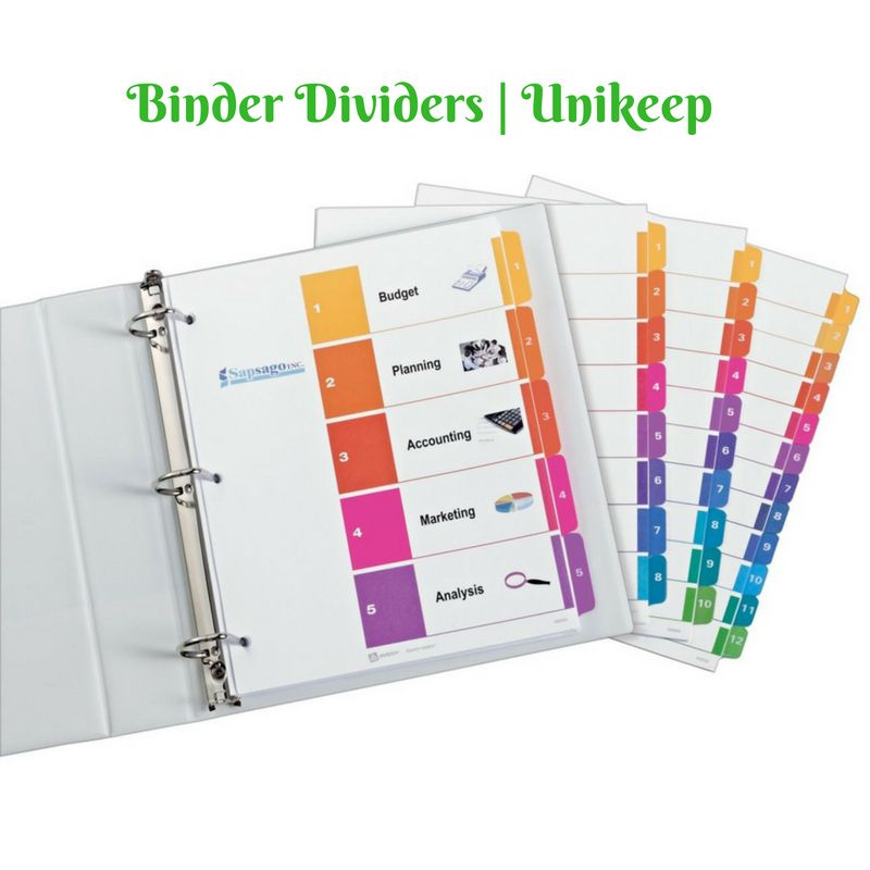 Buy #Unikeep's Quality #binder #dividers That Separate