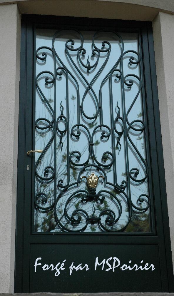 Porte d 39 entree en fer forg louis xv porte fer forg porte fer forg portes de fer porte d - Porte en fer forge exterieur ...