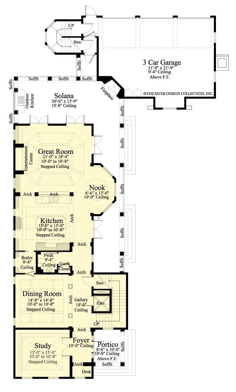 Berkshire Bluff House Plan House Plans Charleston House Plans Floor Plans