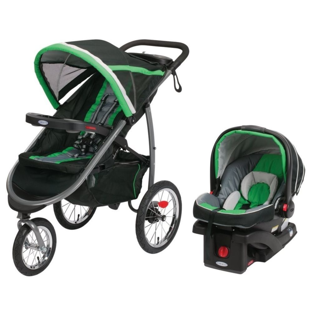 Graco FastAction BABY STROLLER, Folding Baby Jogger TRAVEL SYSTEM ...