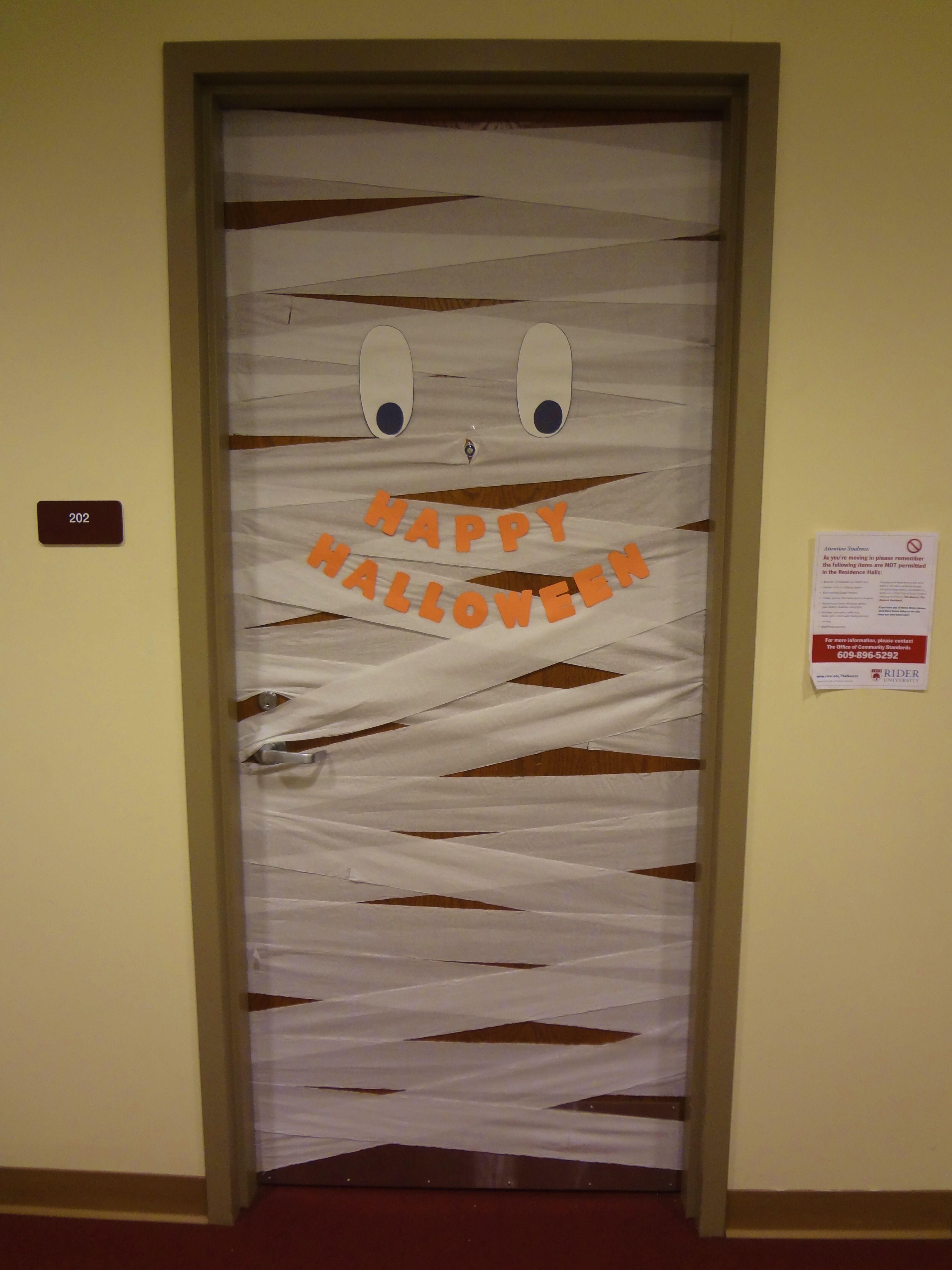 Halloween Mummy Door Decoration Door Decorations Mummy Door Halloween Mummy