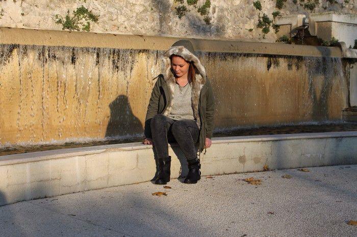 Parka femme avec fourrure www.modeandshop.fr