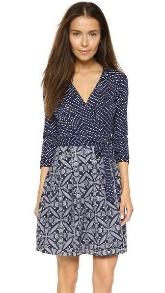 Diane Von Furstenberg Jewel Wrap Dress - Batik/tile Floral Midnight ...