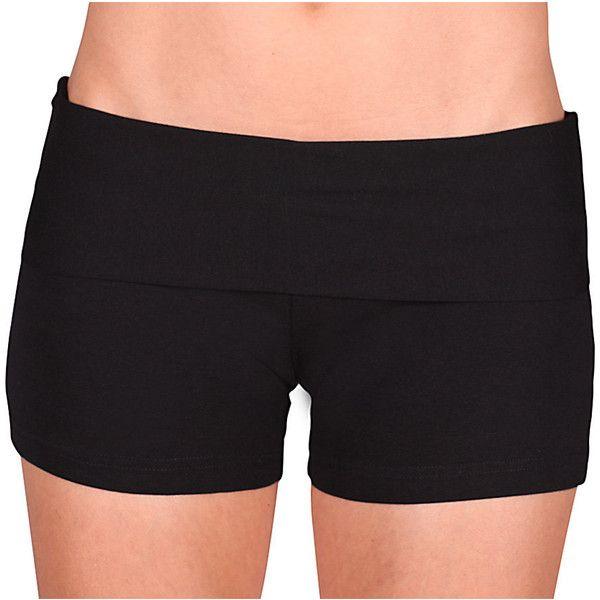 Womens Shorts - Yoga Shorts - Hot Pants - Yoga Clothing - Activewear -... ($38) ❤ liked on Polyvore