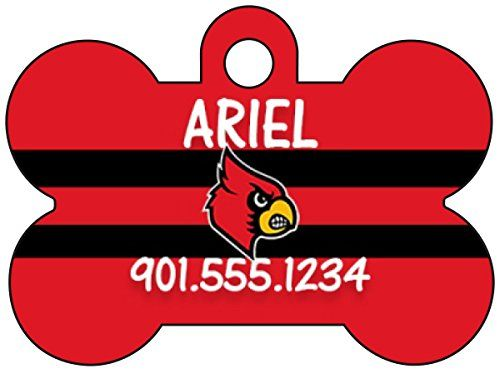 Louisville Cardinals Dog Tag Pet Id Tag Personalized w Name  Number *** Be sure to check out this awesome product.(This is an Amazon affiliate link and I receive a commission for the sales)