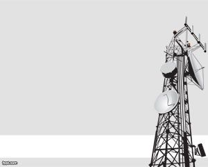 Free Antenna Powerpoint Template With Gray Background Technology