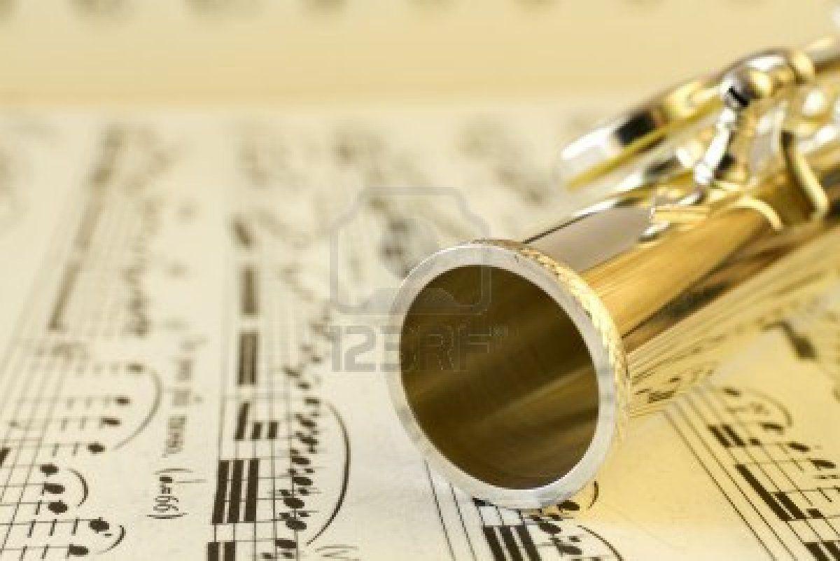 Fine foro del flauto Archivio Fotografico