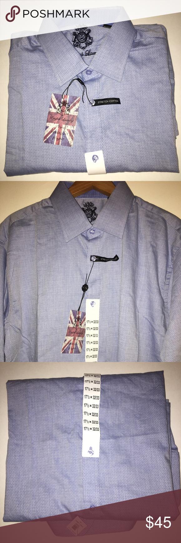 English Laundry Men S Stretch Cotton Dress Shirt Nwt Cotton