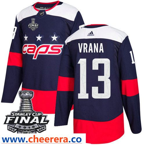 2b6bd358c Washington Capitals  13 Jakub Vrana Navy Blue Stitched Adidas NHL Men s  Stadium Series Jersey with 2018 Stanley Cup Final Patch