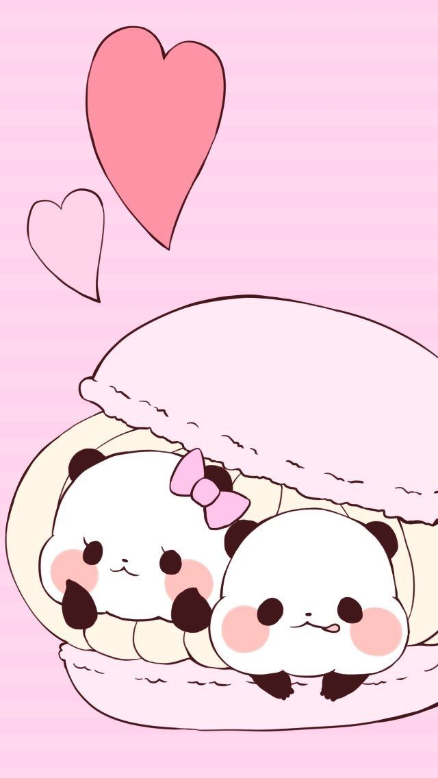 Cellphone Wallpaper Panda Iphone Wallpapers Kawaii Stickers Pandas Chibi Lovers The View