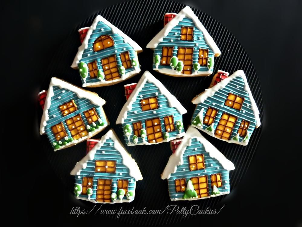 Winter house Winter house, Christmas cookies