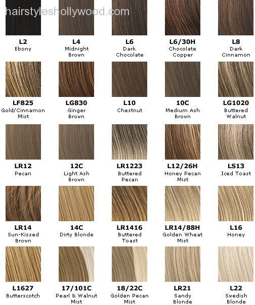 light ash brown hair color chart