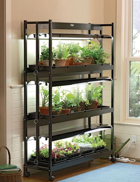 3 Tier Sunlite® Garden Shelves Fluorescent T 5 Bulbs 400 x 300