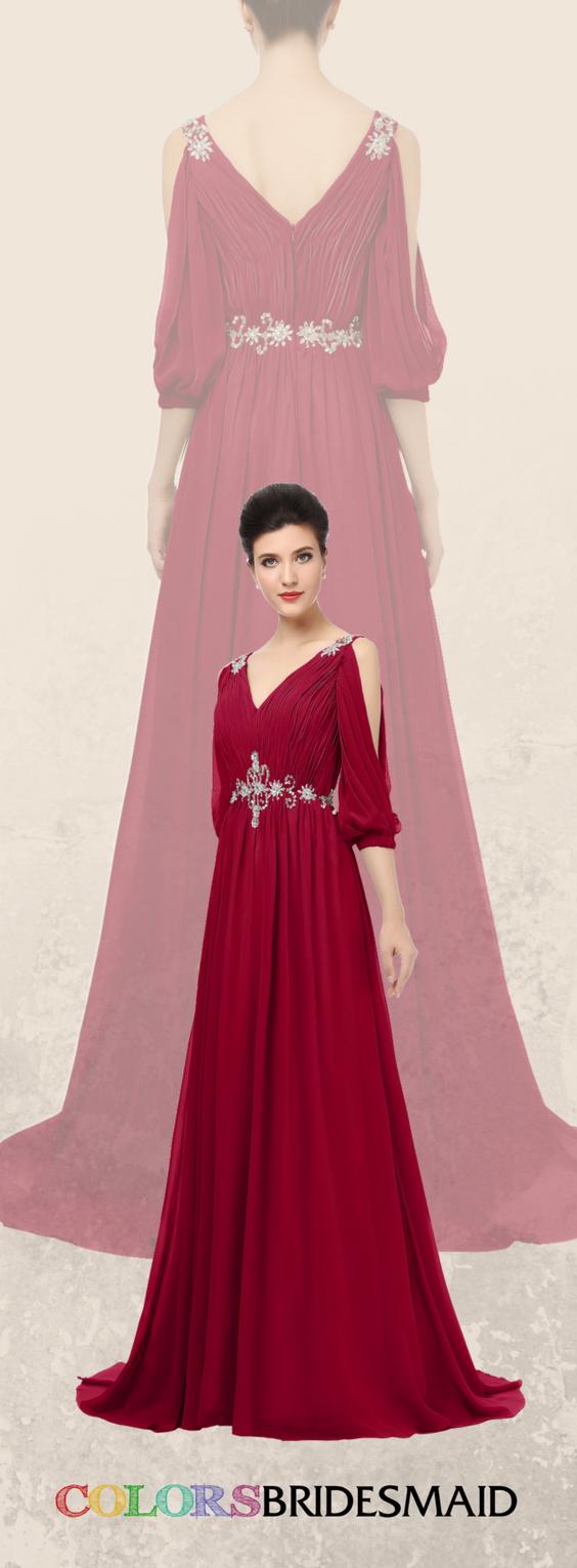 Colsbm joyce dark red bridesmaid dresses wedding dresses