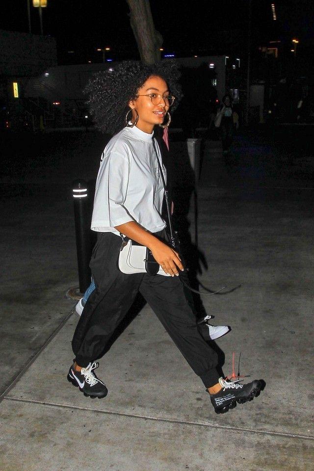 celebrities wearing nike vapormax