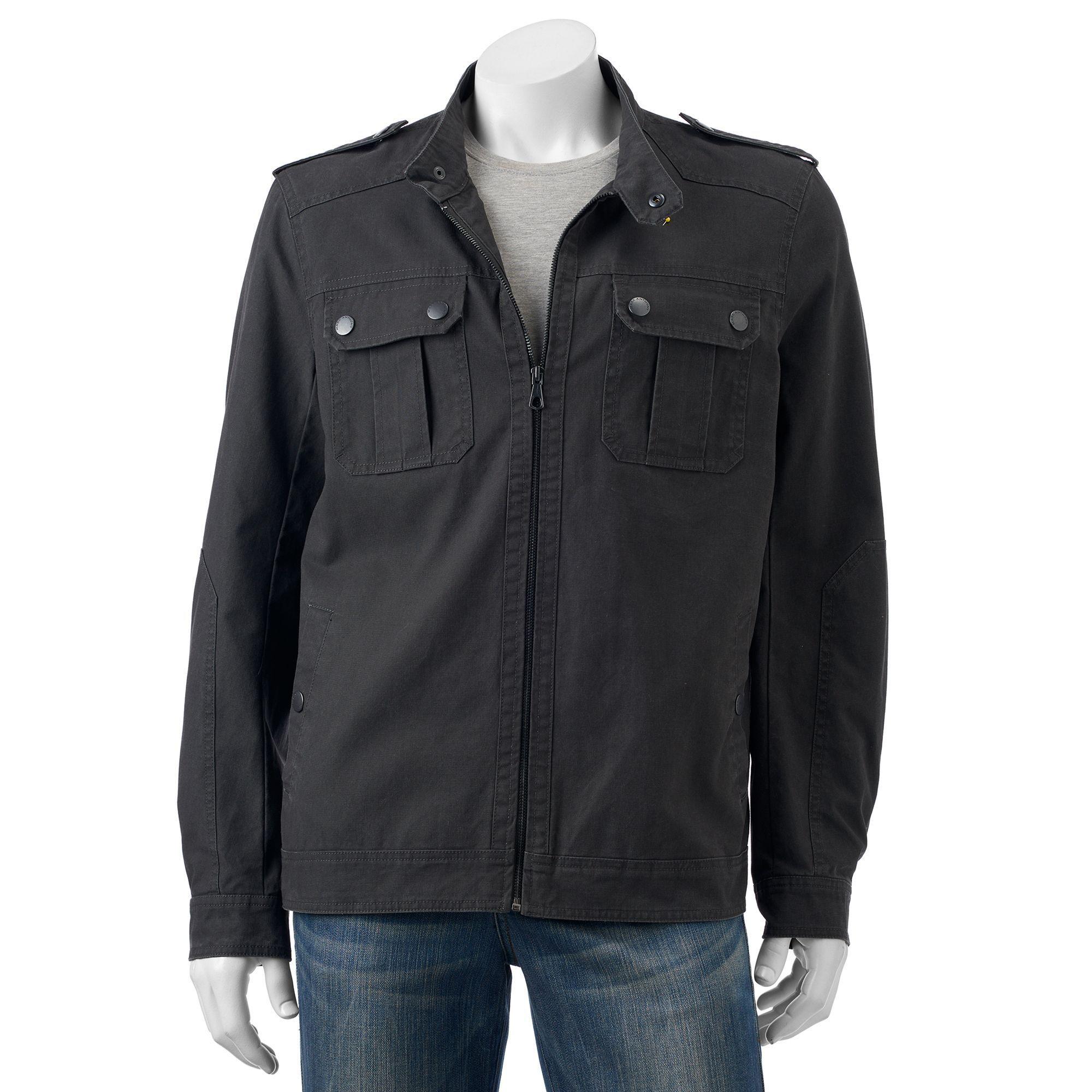Men's Marc Anthony Slim-Fit Canvas Military Jacket, Size: XXL ...