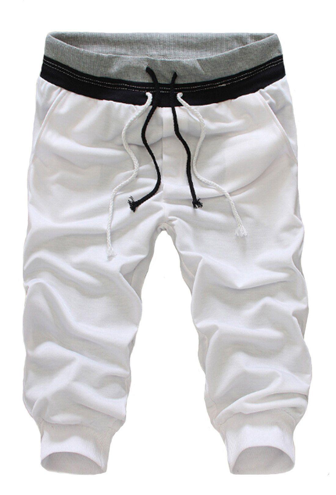 Men`s Summer Loose Baggy Hip-hop Sports Shorts Drawstring Running Pants Trousers