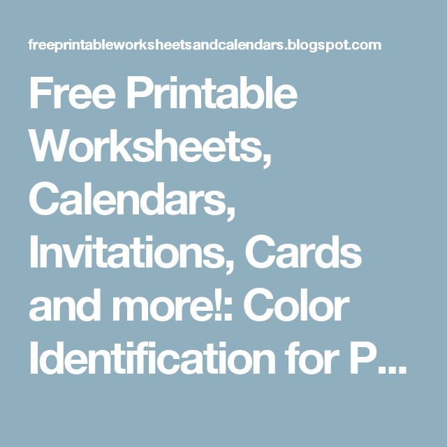Free Printable Worksheets, Calendars, Invitations, Cards and more ...