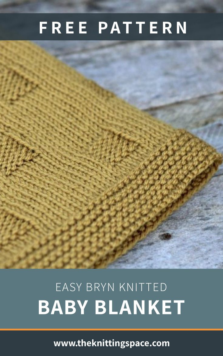 Easy Bryn Knitted Baby Blanket [FREE Knitting Pattern]