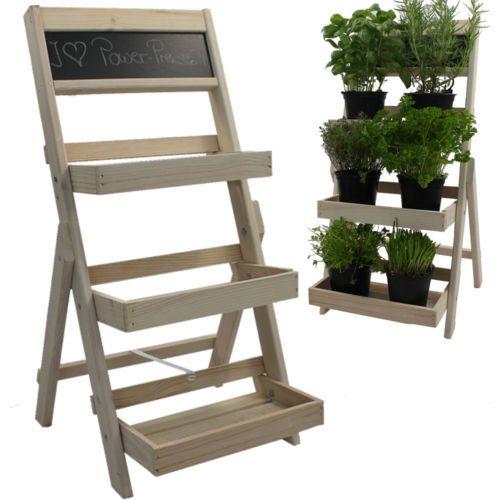 details zu blumentreppe wei blumenst nder pflanzentreppe blumenregal holz wohnen pinterest. Black Bedroom Furniture Sets. Home Design Ideas